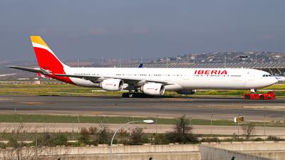A picture of ECKZI - Airbus A340642 - Iberia - © Thomas Ramgraber