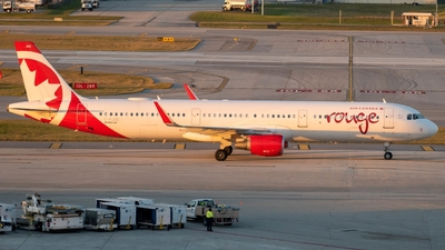 A picture of CFJOK - Airbus A321211 - Air Canada Rouge - © Cody Newton