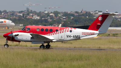 VH-AMS - Beechcraft B200 Super King Air - Ambulance Service of NSW (RFDS)