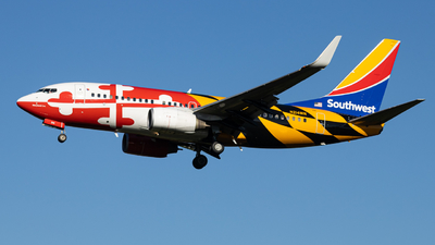 A picture of N214WN - Boeing 7377H4 - Southwest Airlines - © BlueLineAviation