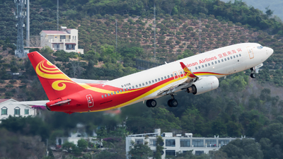 A picture of B5709 - Boeing 737808 - Hainan Airlines - © Lazy Clutch