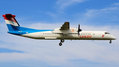 LX-LGE - Bombardier Dash 8-Q402 - Luxair - Luxembourg Airlines