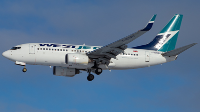 A picture of CGYWJ - Boeing 7377CT - WestJet - © Kevin Leinweber