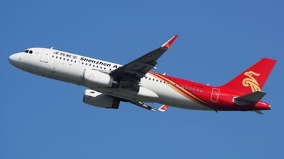 A picture of B8181 - Airbus A320232 - Shenzhen Airlines - © toeychincha