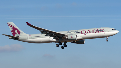 A picture of A7AEA - Airbus A330303 - Qatar Airways - © Menyhért Bence