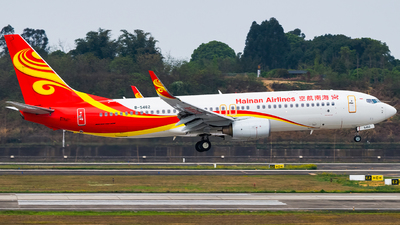 A picture of B5462 - Boeing 73784P - Hainan Airlines - © Miaomiao