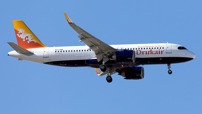 A5-JKW - Airbus A320-251N - Druk Air - Royal Bhutan Airlines