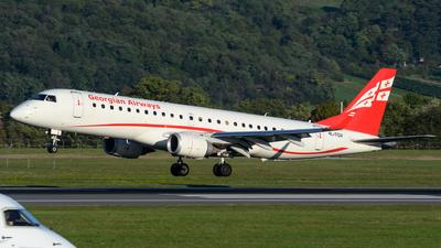 A picture of 4LTGV - Embraer E190AR - Georgian Airways - © Chris Jilli