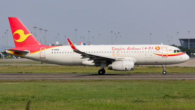 A picture of B8066 - Airbus A320232 - Tianjin Airlines - © Lywings