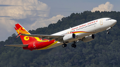 A picture of B1799 - Boeing 73784P - Hainan Airlines - © Fuxin Ma