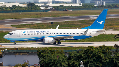 A picture of B6489 - Boeing 73785C - Xiamen Air - © Aaron_ZSAM