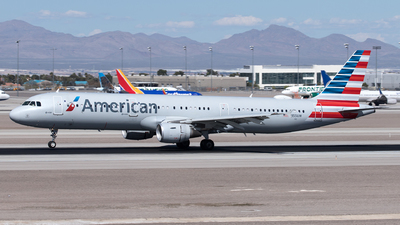A picture of N155UW - Airbus A321211 - American Airlines - © Yixin Chen