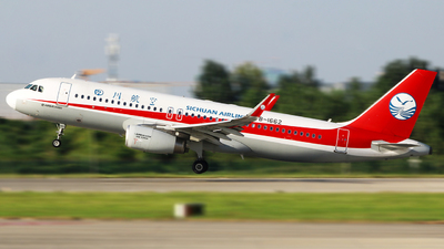 A picture of B1662 - Airbus A320232 - Sichuan Airlines - © Chen Zhen