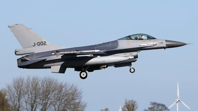 J-002 - General Dynamics F-16A Fighting Falcon - Netherlands - Royal Air Force