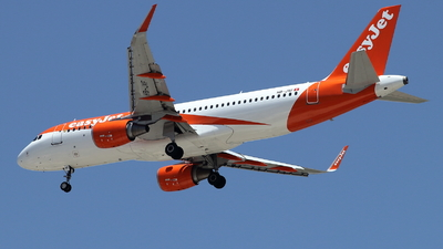 A picture of HBJXF - Airbus A320214 - easyJet - © ikeharel