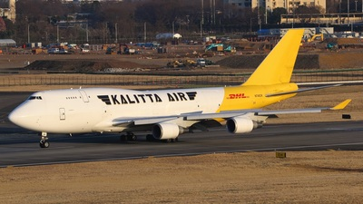 A picture of N740CK - Boeing 7474H6(BCF) - DHL - © M.Ishida