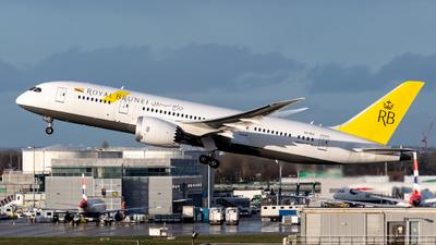 A picture of V8DLE - Boeing 7878 Dreamliner - Royal Brunei Airlines - © Leo Sheng