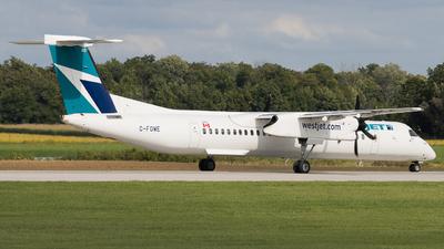 A picture of CFOWE - De Havilland Canada Dash 8400 - WestJet - © Shon Fridman