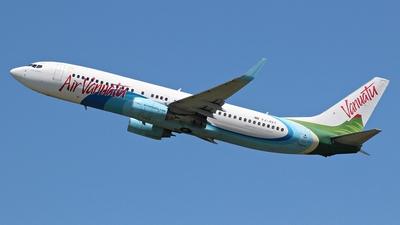 A picture of YJAV1 - Boeing 7378Q8 - Air Vanuatu - © James Brisbane