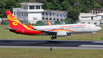 A picture of B1726 - Boeing 73784P - Hainan Airlines - © Wanping Chen
