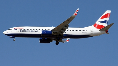 ZS-ZWX - Boeing 737-82R - British Airways (Comair)