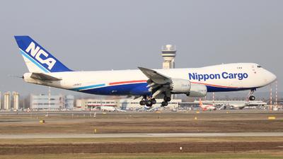 A picture of JA15KZ - Boeing 7478KZ(F) - Nippon Cargo Airlines - © Carlo Luigi Tamiazzo