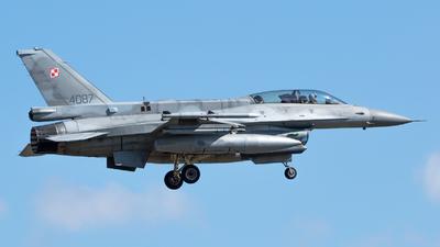 4087 - Lockheed Martin F-16D Fighting Falcon - Poland - Air Force