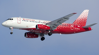 A picture of RA89133 - Sukhoi Superjet 10095B - Rossiya - © SN7756