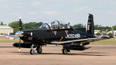 N2824B - Raytheon T-6C Texan II - Beechcraft Corporation