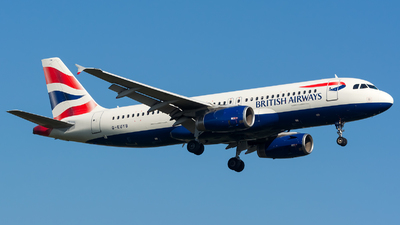 G-EUYB - Airbus A320-232 - British Airways