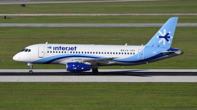 A picture of XAVER - Sukhoi Superjet 10095B - Interjet - © Sebastian Wermuth