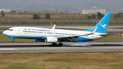 A picture of B5319 - Boeing 7378FH - Xiamen Air - © YIJING HOU