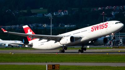 A picture of HBJHN - Airbus A330343 - Swiss - © Derek MacPherson