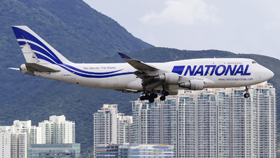 A picture of N756CA - Boeing 747412(BCF) - National Airlines - © Michael Malone