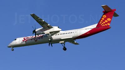 A picture of VTSUE - De Havilland Canada Dash 8400 - SpiceJet - © Sriram Hariharan