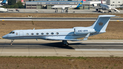 A9C-BRN - Gulfstream G550 - Bahrain - Royal Flight