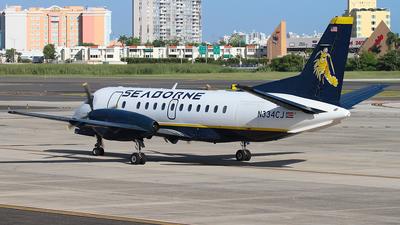 A picture of N334CJ - Saab 340B - Seaborne - © Angel Natal