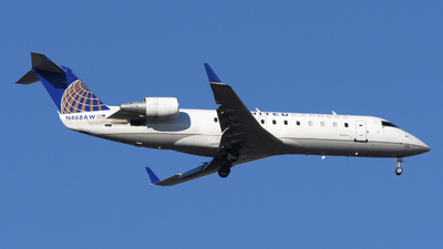 A picture of N468AW - Mitsubishi CRJ200LR - United Airlines - © DJ Reed - OPShots Photo Team