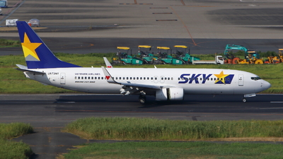 A picture of JA73NT - Boeing 73786N - Skymark Airlines - © kouyagi