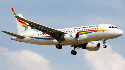 A picture of B6443 - Airbus A319115 - Tibet Airlines - © Keanu Chen