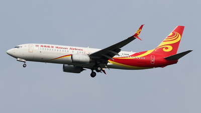 A picture of B6808 - Boeing 73784P - Hainan Airlines - © ceci wong