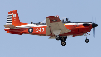 3401 - Beechcraft T-34C Turbo Mentor - Taiwan - Air Force