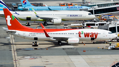 A picture of HL8294 - Boeing 7378Q8 - T'way Air - © Lee Jihun