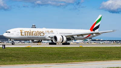 A picture of A6EQB - Boeing 77731H(ER) - Emirates - © Haocheng Fang