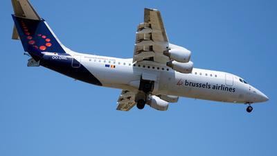 OO-DWL - British Aerospace Avro RJ100 - Brussels Airlines