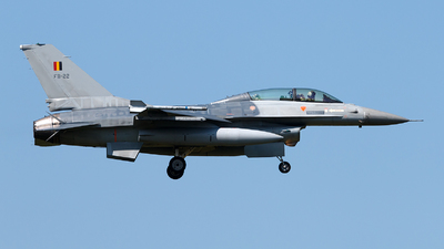 FB-22 - General Dynamics F-16BM Fighting Falcon - Belgium - Air Force