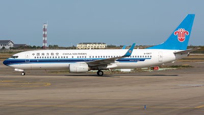 A picture of B5837 - Boeing 73781B - China Southern Airlines - © BobH