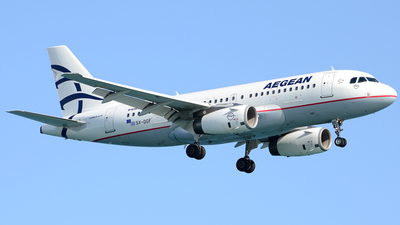 A picture of SXDGF - Airbus A319132 - Aegean Airlines - © Henrik Hedde