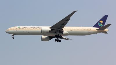 A picture of HZAK11 - Boeing 777368(ER) - Saudia - © Arvin Lienardi