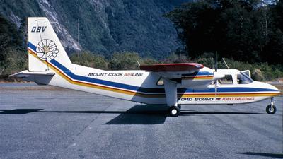 ZK-DBV - Britten-Norman BN-2A Islander - Mount Cook Airlines